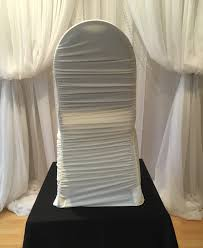 Ruched Chair Covers Chair Decor Ivory Rouched Chair Cover