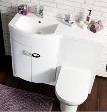 endearing bathroom vanity units with basin and toilet and white