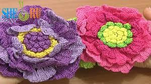 crochet large flower tutorial 62 part 2 of 3 crochet large petals