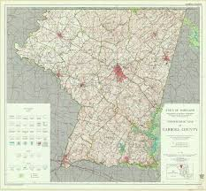 Map Of Md Topographic Map Of Carroll County