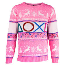 knitted christmas playstation pink knitted christmas jumper geekcore co uk