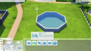 creating a customizable above ground pool in the sims 4 sims