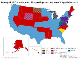 North Carolina State Map by College Bound Out Of State Students Carolina Demography
