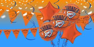 Okc Thunder Home Decor Nba Oklahoma City Thunder Party Supplies Party City