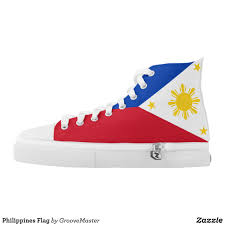 Flag Philippines Picture Philippines Flag High Top Sneakers Filipino Filipina Manila Shoes