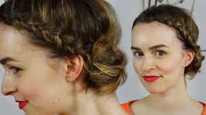 Frisuren Mittellange Haare Dutt by Haare Frühlingsfrisur Seitlicher Dutt Mit Flechtwerk