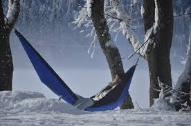 ticket to the moon camping hammock winter snow ticket to the