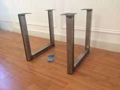 U Shaped Table Legs Flat Bar Metal Table Legs Table Legs Pinterest Legs Metals