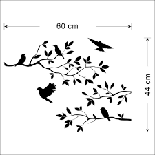 aliexpress com buy bird tree branch wall paper decals