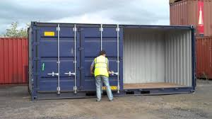 shipping container with opening side www bullmans co uk youtube