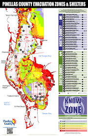 South Florida County Map by Pinellas County Florida Emergency Management Know Your Zone