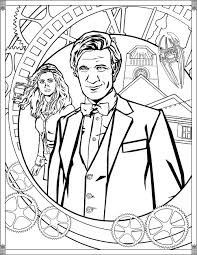 doctor pages eleventh doctor tv shows coloring pages