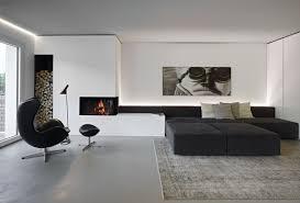 black sofa deck lamp black curtain hardwood floor black modern