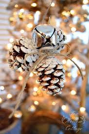 jingle bell pinecone ornament handmade ornament no 20