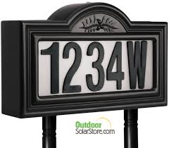 Lighted House Number Sign House Number Signs Lighted Solar House Design And Ideas