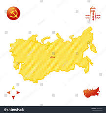 map of ussr map ussr stock vector 704236069