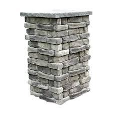 random stone gray 36 in outdoor decorative column rscg36 the