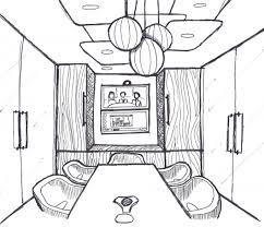sketch of a living room table carameloffers
