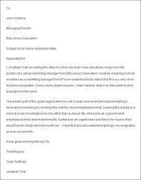 job resignation letter resume examples templates sample