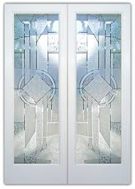 etched glass doors matrix chardonnay 3d etched glass door traditional decor