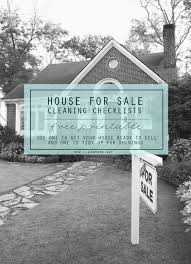 free printable house for sale cleaning checklists free