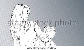 pop art mom and baby stock photo royalty free image 74763459 alamy