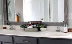 how to frame a bathroom mirror with clips how to frame a bathroom mirror on a budget hometalk