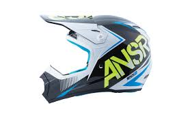 childs motocross helmet answer new youth mx 2017 ansr snx 2 white acid blue kids motocross