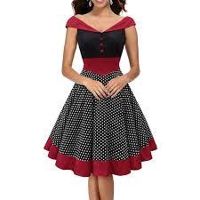 1940s dresses womens retro v neck polka dot dress vintage cap sleeve 1940s
