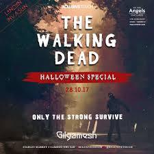 ra tickets walking dead halloween at gilgamesh london