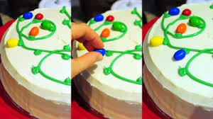 Make Christmas Cake Decorations Out Icing by How To Make A Christmas Lights Cake Baking Bites