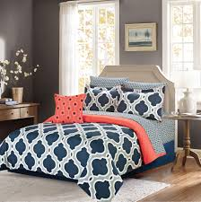 Chevron Bedding Queen Bedding Set Curious Pleasant Impressive Coral And Gray Colored