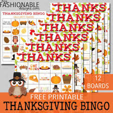 my fashionable designs free printable thanksgiving bingo