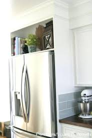 gap between fridge and cabinets space between top of refrigerator and cabinet no cabinet over