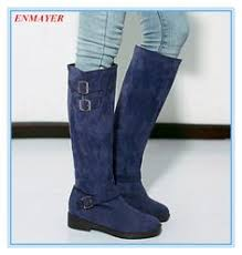 size 11 womens boots for cheap size us 4 11 winter causal womens faux suede flats knee high