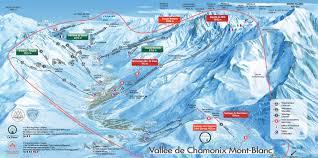 Map Of La Area Chamonix Valley Ski Resorts Map Grands Montets La Flegere Brevent