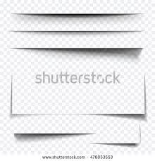 paper sheet shadow effect vector line stock vector 608840690