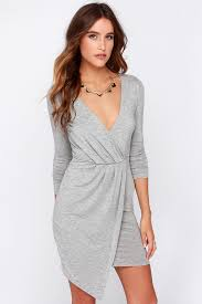 sleeve wrap dress grey dress sleeve dress wrap dress 44 00