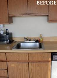 Ugly Kitchen Cabinets Bathroom Update How To Paint Laminate Cabinets Shiplap