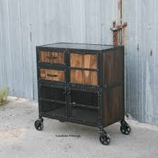 custom made metal storage cabinets modern industrial salon workstation rustic cart reclaimed wood and