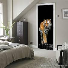 home interior tiger picture ferocious tiger wall stickers diy mural bedroom home decor poster