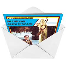 fish and beer father u0027s advice funny birthday card nobleworks