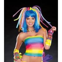 multi color light up cyber locks costume accessory amiclubwear