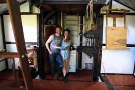tiny steampunk house built by film set designer and movie stylist