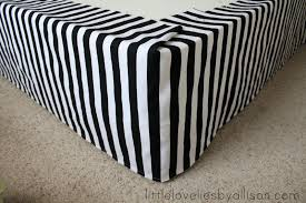 astounding black and white striped bed skirt 35 with additional