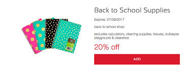 target coupon black friday 20 off back to supplies target coupon southern savers