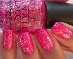 sparkley pink nails i u0027m a barbie in a barbie world