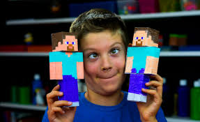 how to make steve papercraft cutout art for kids hub