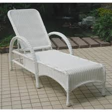 White Resin Wicker Patio Furniture Resin Wicker Chaise Lounge Ty Pennington Style Mayfield Chaise