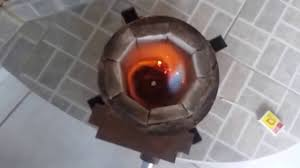 melting bronze at home inexpensive furnace part 01 youtube